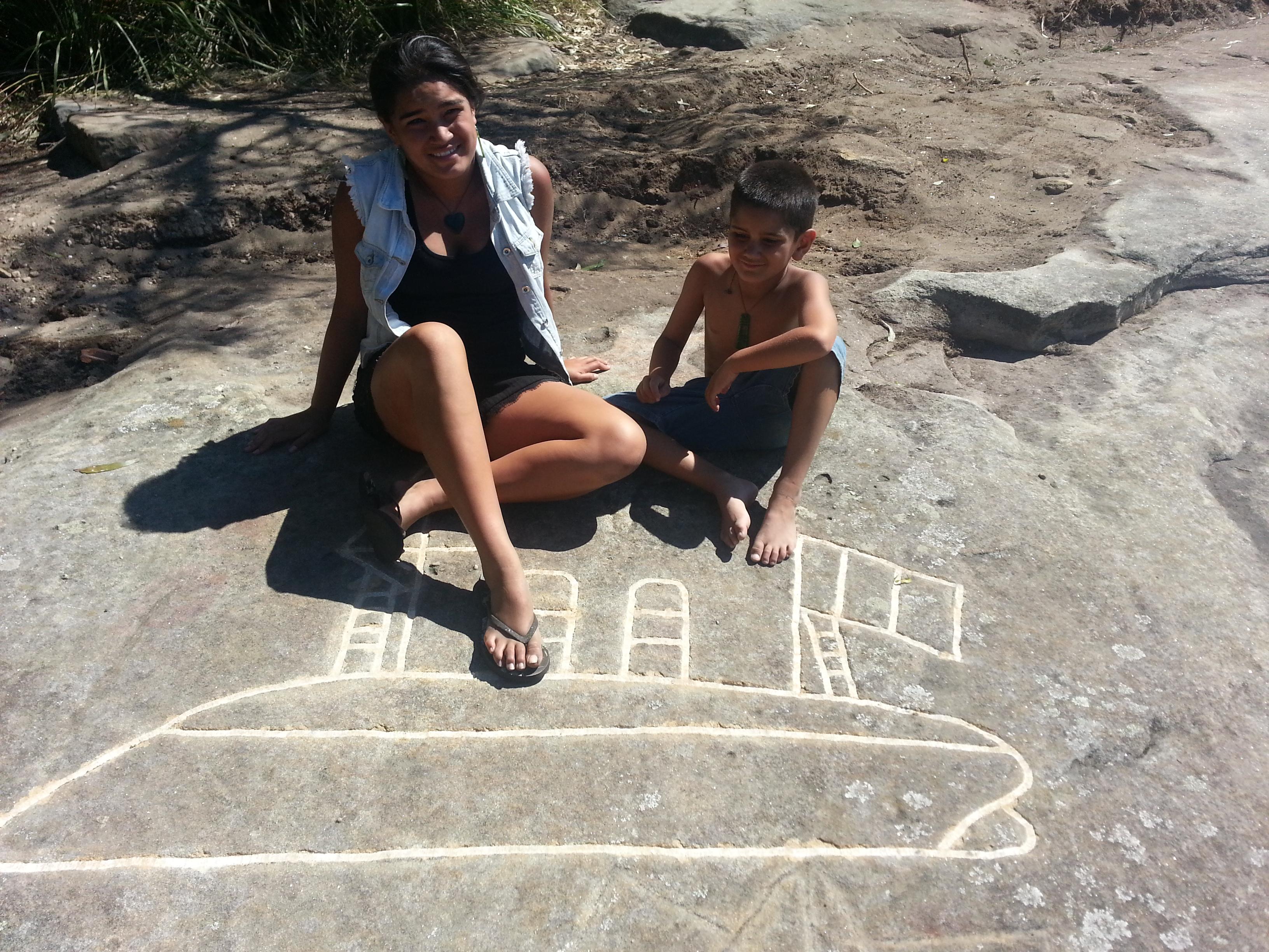 Maori rock carvings callan park twins prophesy